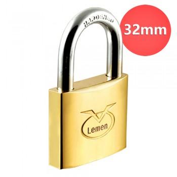 32mm Lemen Brass Padlock Brass Cylinder Iron Key