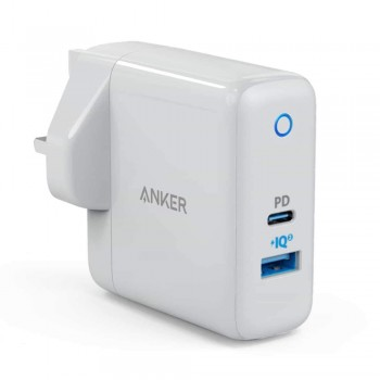 Anker A2321 PowerPort II PD + PowerIQ 2.0 With 30W Power Delivery Wall Charger - White