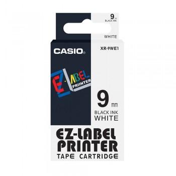 Casio Ez-Label Tape Cartridge - 9mm, Black on White (XR-9WE1)