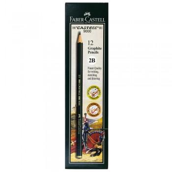 Faber Castell Graphite Pencil Castell 9000 2B (12 pcs)