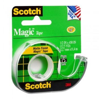 3M Scotch Magic 810 Adhesive Tape Dispenser 12.7mm x 11.4m