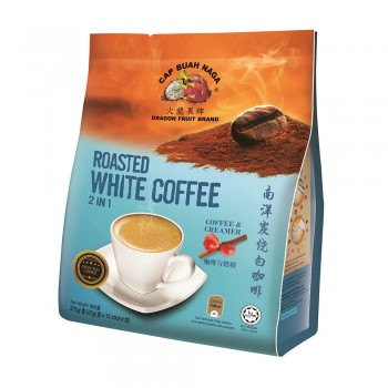 Dragon Fruit Brand - Roasted White Coffee - 2 IN 1 Coffee & Creamer 25g x 15 sticks