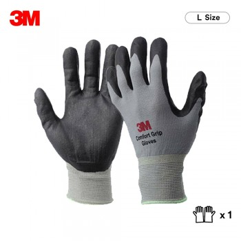 3M Comfort Grip Glove General Use - Gray (L Size)
