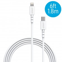 Anker A8613 PowerLine 6ft Select USB-C to Lightning Connector Cable - White (1.8M)