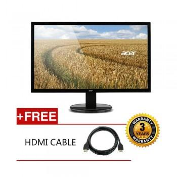 "Acer K202HQL (Abix) 19.5"" 1366 x 768 16:9 LED Monitor Free HDMI Cable"