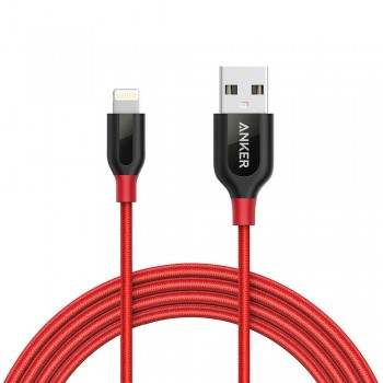 Anker PowerLine+ 3ft Lightning Connector Cable Red (0.9M)