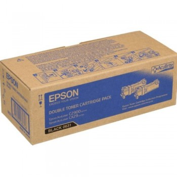 Epson SO50631 Double Cap Black Toner Cartridge (Item No:EPS SO50631)