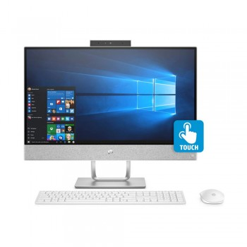 "HP Pavilion 24-R131D 23.8"" FHD IPS All-in-One Touch Desktop PC - i3-8100T, 4gb ddr4, 1tb, Amd R530 2GB, W10"