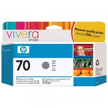 HP 70 DesignJet Ink Cartridge 130-ml - Gray (C9450A)