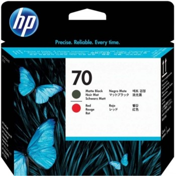 HP 70 DesignJet Printhead - Matte Black/Red (C9409A)