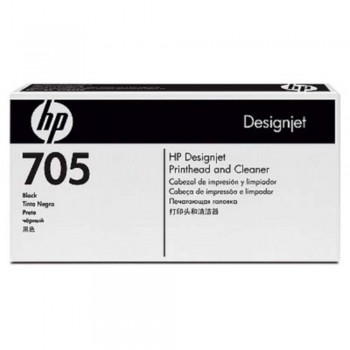HP 705 DesignJet Printhead/Printhead Cleaner - Black (CD953A)