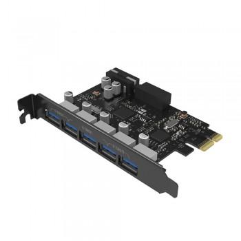Orico PVU3-502I PCI-E Express Card to 5 USB3.0 External Port & 2 Ports 20 pin USB 3.0 Output Port