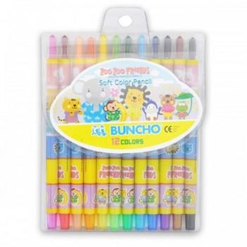 Buncho Soft Color Pencils - 12 colors