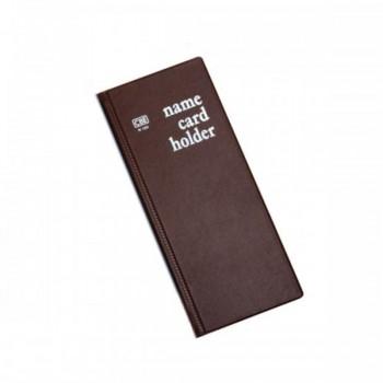 CBE N160 PVC Name Card Holder - Brown (Item No: B01-16BR) A1R2B16