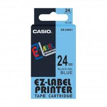 Casio Ez-Label Tape Cartridge - 24mm, Black on Blue (XR-24BU1)