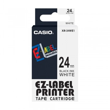Casio Ez-Label Tape Cartridge - 24mm, Black on White (XR-24WE1)