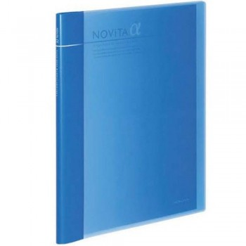 Kokuyo Novita Alpha Expandable Clear Book - Blue
