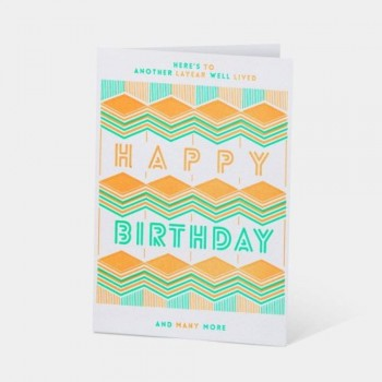 Letterpress Card - Here's To Another Layear Well Lived