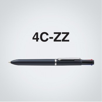Zebra 4C-ZZ 4 Colour Ball-Point Pen Solid Black