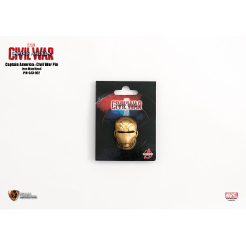 Marvel Captain America 3 Pin Iron Man head (PIN-CA3-002)