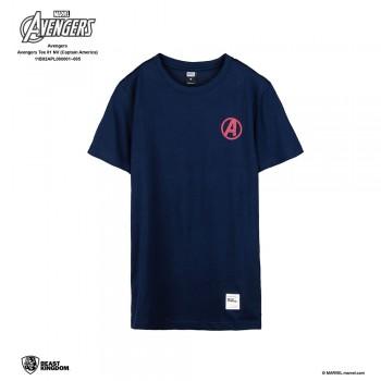 Avengers: Avengers Tee Captain America - Navy Blue, XS