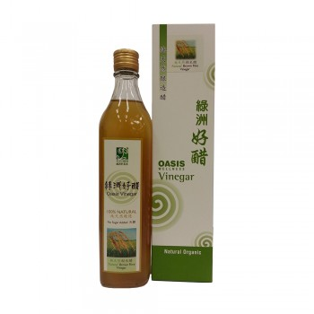 Oasis Wellness Natural Brown Rice Vinegar 520ml (No Sugar)