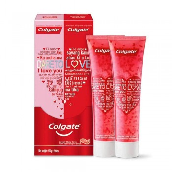 Colgate Dare to Love Limited Edition Heart Toothpaste Value Pack 2 x 130g