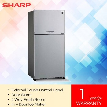 SharpSJP80MFMK J-Tech Inverter Pelican 2 Door Refrigerator (720L)