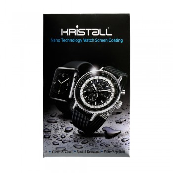 Kristall 9H Hardness Full Coverage Liquid Nano Coating Screen Protector for All Smartwatches - Anti-Bubble, Anti-Scratch, Super Hydrophobic, UV Resistance, High Gloss and Color Rejuvenation